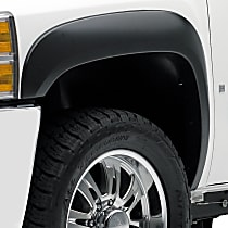 Front, Driver and Passenger Side EGR Rugged Look Fender Flares, Lightly Textured Black