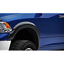 751394 Front and Rear, Driver and Passenger Side Rugged Look Series Fender Flares, Matte Black
