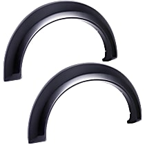 751414R Rear, Driver and Passenger Side EGR Rugged Look Fender Flares, Lightly Textured Black