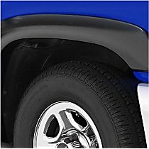 751494 Front and Rear, Driver and Passenger Side Rugged Look Series Fender Flares, Lightly Textured Black