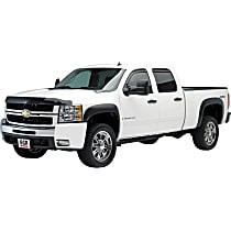 751504 Front and Rear, Driver and Passenger Side EGR Rugged Look Fender Flares, Lightly Textured Black