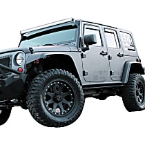 751505 Front and Rear, Driver and Passenger Side EGR Rugged Look Fender Flares, Matte Black