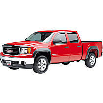 751514 Front and Rear, Driver and Passenger Side EGR Rugged Look Fender Flares, Lightly Textured Black