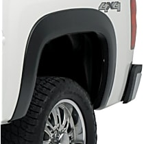 Rear, Driver and Passenger Side EGR Rugged Look Fender Flares, Black