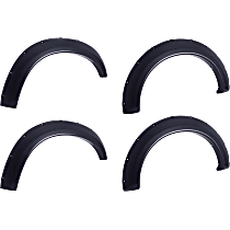 796005 Front and Rear, Driver and Passenger Side Bolt-on Look Series Fender Flares, Matte Black