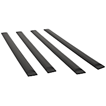 951674 Side Molding - Black, ABS Plastic, Direct Fit, Set of 4