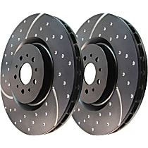 Front Driver And Passenger Side Brake Disc