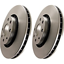 EBC Premium Brake Rotors Front Driver And Passenger Side Brake Disc