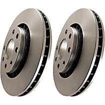 RK7046 EBC Premium Brake Rotors Front Driver And Passenger Side Brake Disc