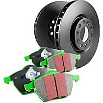 EBC S11 Greenstuff 2000 and RK Rotors Front Brake Disc and Pad Kit, 2-Wheel Set
