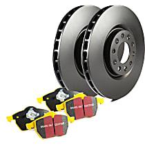 EBC S13 Yellowstuff and RK Rotors Rear Brake Disc and Pad Kit, 2-Wheel Set