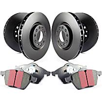 EBC S20 Ultimax2 and Plain Rotors Front And Rear Brake Disc and Pad Kit, 4-Wheel Set