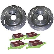 EBC Sport Kit - Stage 2 Rear Brake Disc and Pad Kit, 2-Wheel Set