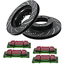 EBC Truck and SUV Kit - Stage 3 Front Brake Disc and Pad Kit, 2-Wheel Set