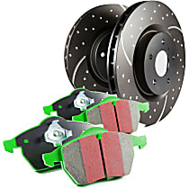 EBC Truck and SUV Kit - Stage 3 Rear Brake Disc and Pad Kit, 2-Wheel Set