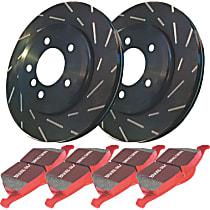 EBC Signature Kit - Stage 4 Front Brake Disc and Pad Kit, 2-Wheel Set