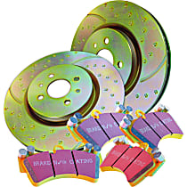 EBC Super Street Kit - Stage 5 Front Brake Disc and Pad Kit, 2-Wheel Set