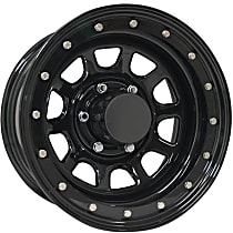 Series 252-5183 Wheel, 15 in. Diameter, 10 in. Width, 6 x 5.5 in. Bolt Pattern, -44 mm Offset, Gloss black, Sold individually