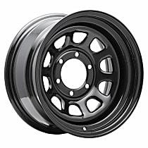PCW51-7883 Rock Crawler 51 Wheel, 17 in. Diameter, 8 in. W, 6 x 5.5 in. Bolt Pattern, Hole/Slot Design, Black, Sold individually