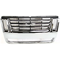 Grille Assembly - Chrome Shell with Black Insert, Eddie Bauer/XLT/Limited Model