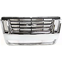 Grille Assembly - Chrome Shell with Black Insert, Eddie Bauer Model