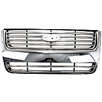 Grille Assembly - Chrome Shell with Painted Black Insert, Limited/XLT Models