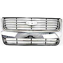 Grille Assembly - Chrome Shell with Painted Black Insert, Limited/XLT Models, CAPA Certified
