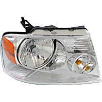 Passenger Side Headlight, With bulb(s) - Chrome Bezel, CAPA CERTIFIED