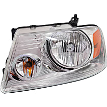 Driver Side Headlight, With bulb(s) - Chrome Bezel, CAPA CERTIFIED
