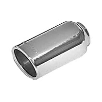 15360 Exhaust Tip - Polished, Stainless Steel, Single, Universal, Sold individually