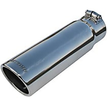 15363 Exhaust Tip - Polished, Stainless Steel, Single, Universal, Sold individually