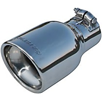 15365 Exhaust Tip - Polished, Stainless Steel, Single, Universal, Sold individually