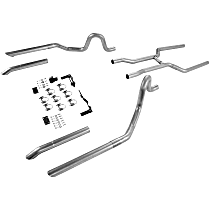 17107 1964-1973 Header-Back Exhaust System - Made of Aluminized Steel
