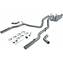 17424 Flowmaster American Thunder - 2006-2008 Dodge Ram 1500 Cat-Back Exhaust System - Made of Aluminized Steel