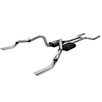 817139 American Thunder Series - 1969 Header-Back Exhaust System - Made of Stainless Steel