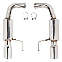 12146FLT Axle-Back Exhaust System, 304 Stainless Steel, 2.5 in. Piping Diameter, Split Rear, 4 in. Polished Tips