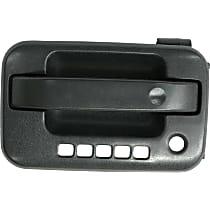 Front, Driver Side Exterior Door Handle, Black