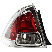 CAPA Certified Driver Side Tail Light, Without bulb(s)