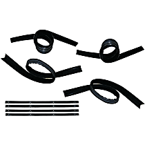 Weatherstrip Kit, Set of 8 Front and Rear, Driver and Passenger Side, Inner and Outer
