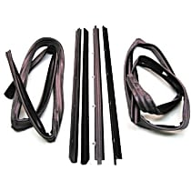 Weatherstrip Kit, Kit Driver and Passenger Side, Inner and Outer
