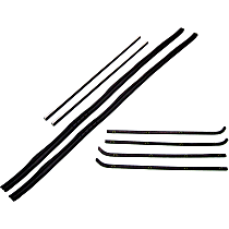 Weatherstrip Kit, Set of 2 Driver or Passenger Side