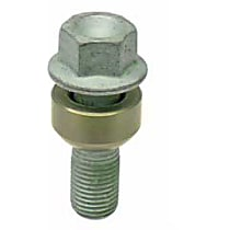 Febi 19656 Lug Bolt for Alloy Wheel (Silver) (45 mm) - Replaces OE Number 997-361-203-01