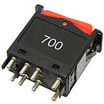 Febi 24199 Hazard Flasher Switch (Rocker Type) - Replaces OE Number 000-820-90-10