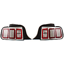 Driver and Passenger Side Tail Light, With bulb(s) - Clear Lens; Chrome Interior