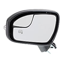 Mirror - Driver Side, Power, Heated, Paintable, With Turn Signal, Memory, Blind Spot Glass and Puddle Lamp