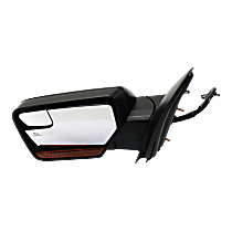 Mirror Power Folding Heated - Driver Side, In-housing Signal Light, With Blind Spot Corner Glass, Paintable