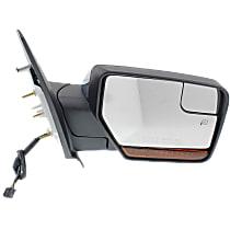 Mirror Power Folding Heated - Passenger Side, In-housing Signal Light, With Blind Spot Corner Glass, Chrome