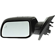 Mirror - Driver Side, Power, Heated, Folding, Paintable, With Blind Spot Function, and Puddle Lamp