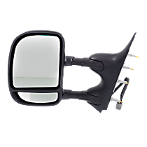 Mirror - Driver Side, Towing, Power, Textured Black, With Blind Spot Glass