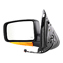 Mirror - Driver Side, Power, Heated, Textured Black, With Turn Signal and Puddle Lamp